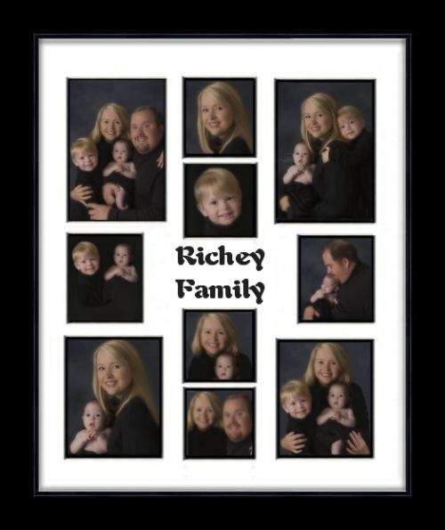 Family Multiple Opening Photo Mat